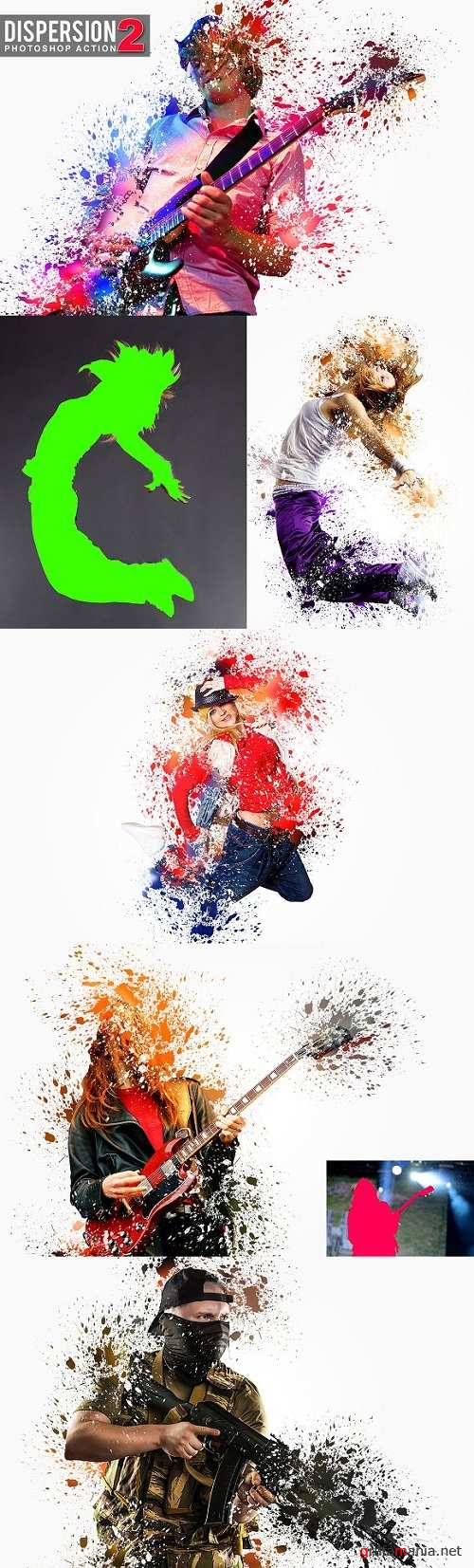 Dispersion 2 Photoshop Action 2205871