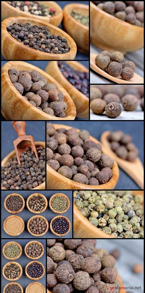 Different spices in a bamboo bowls 10X JPEG