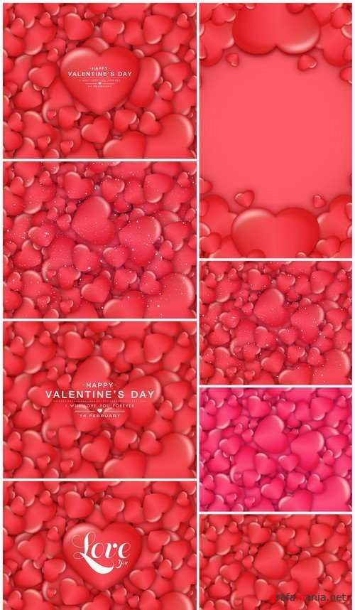 Red heart and valentine background 8X JPEG