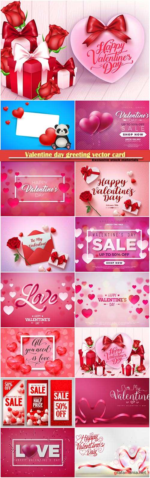 Valentine day greeting vector card, hearts i love you # 25
