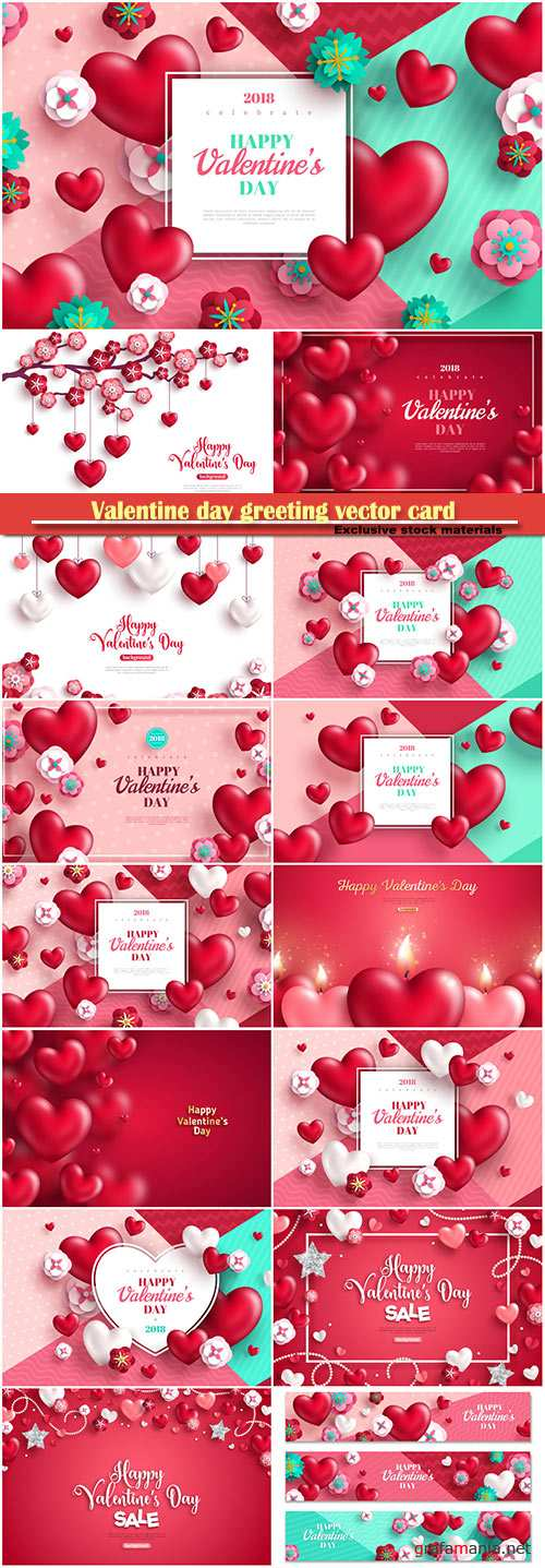Valentine day greeting vector card, hearts i love you # 23