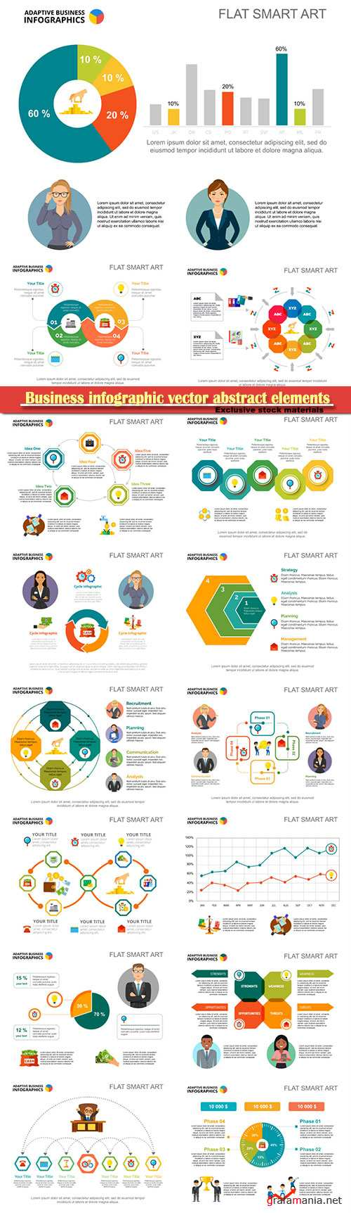 Business infographic vector abstract elements