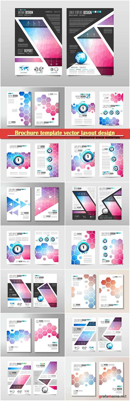 Brochure template vector layout design, corporate business annual report, magazine, flyer mockup # 119