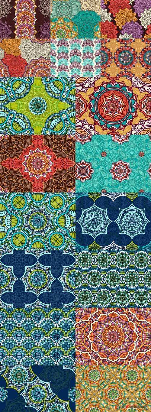 Seamless Pattern - Vintage Decorative Elements 1, 18xEPS