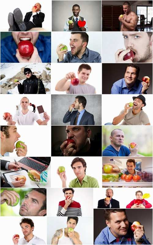 People man eating apple fruit vitamin benefits 25 HQ Jpeg