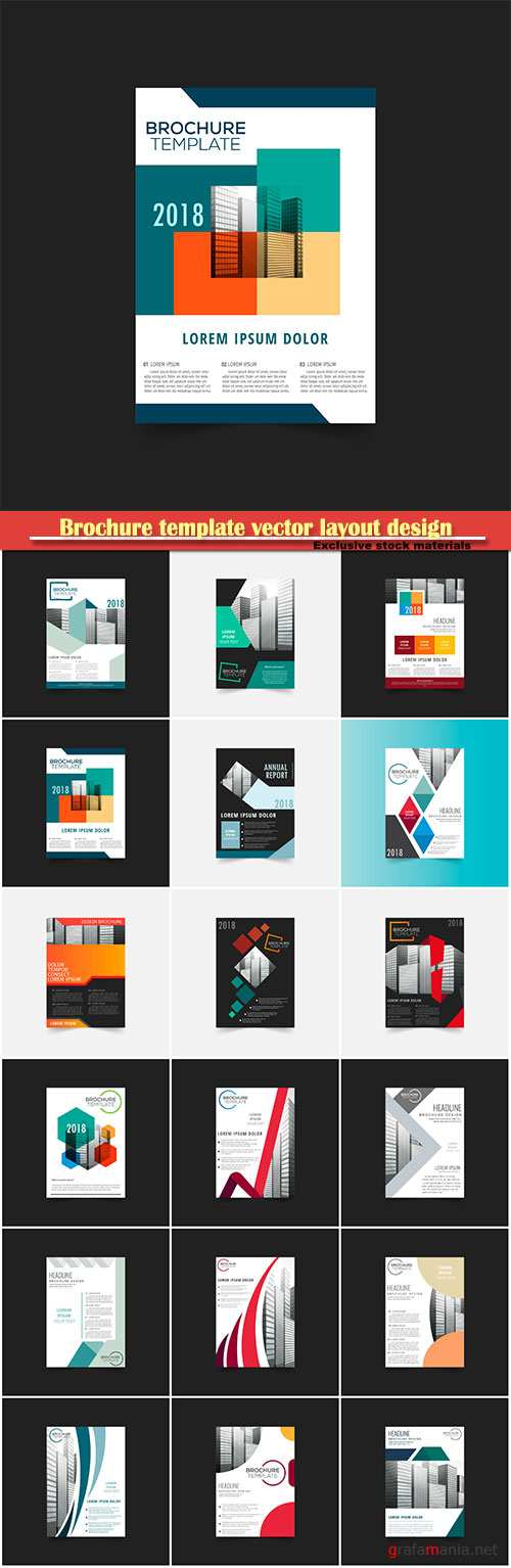 Brochure template vector layout design, corporate business annual report, magazine, flyer mockup # 122