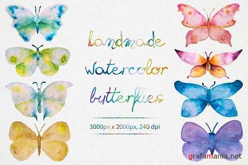 Watercolor Butterflies - 873805