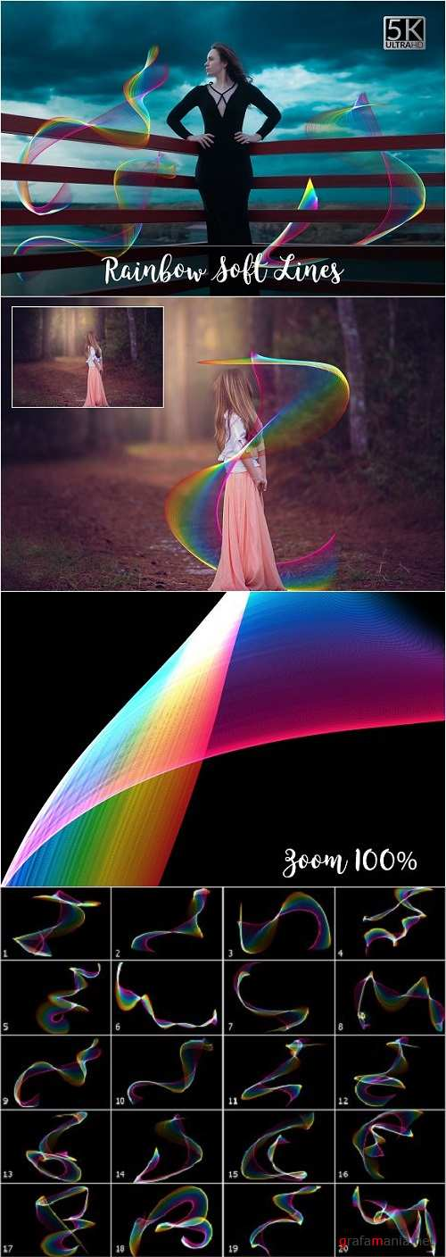 5K Rainbow Soft Lines Overlays - 2140462