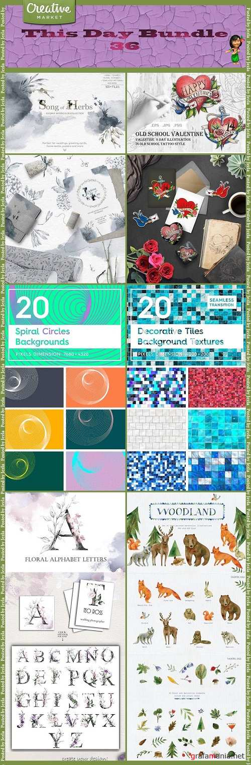 This Day Bundle 36 - Scraps, Backgrounds, Textures
