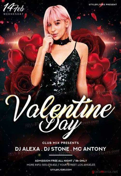 Valentine Day V28 2018 PSD Flyer Template