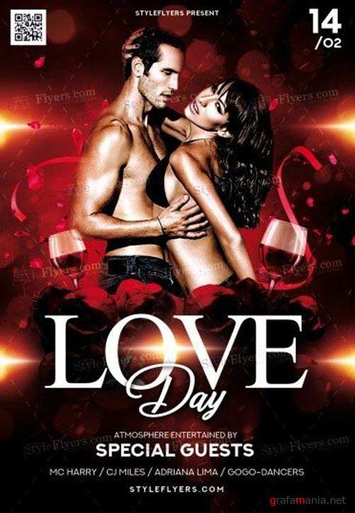 Love Day V8 2018 PSD Flyer Template