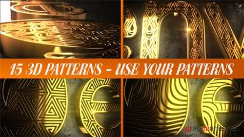 Glaring Pattern Maker Logo Reveal - After Effects Project (Videohive)