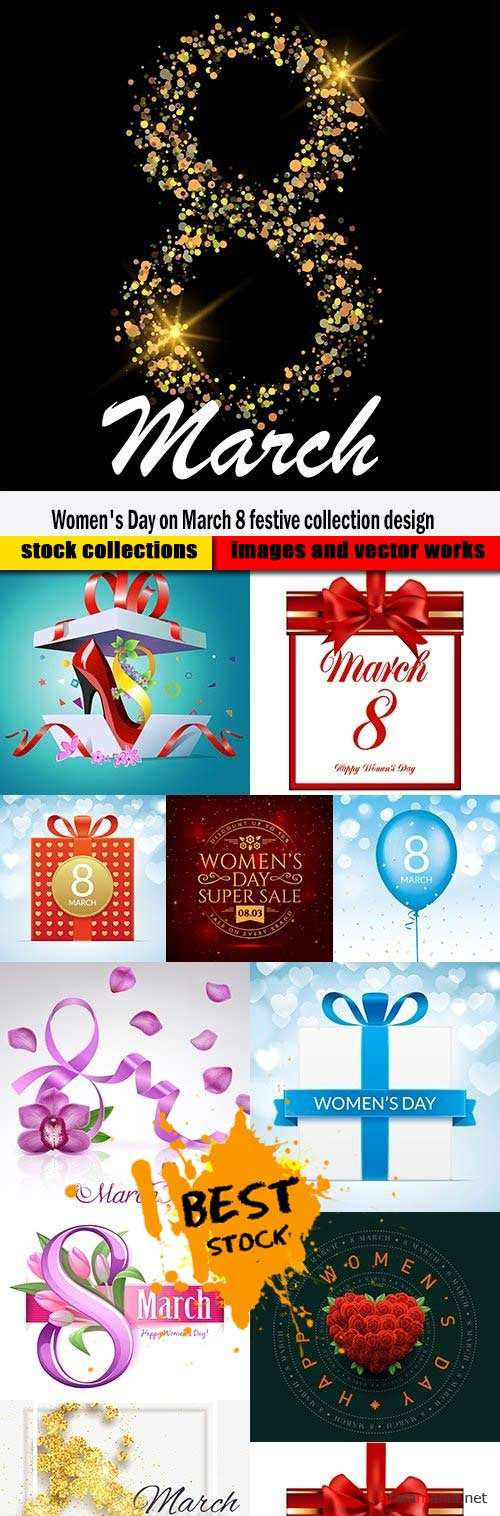 Women's Day on March 8 festive collection design