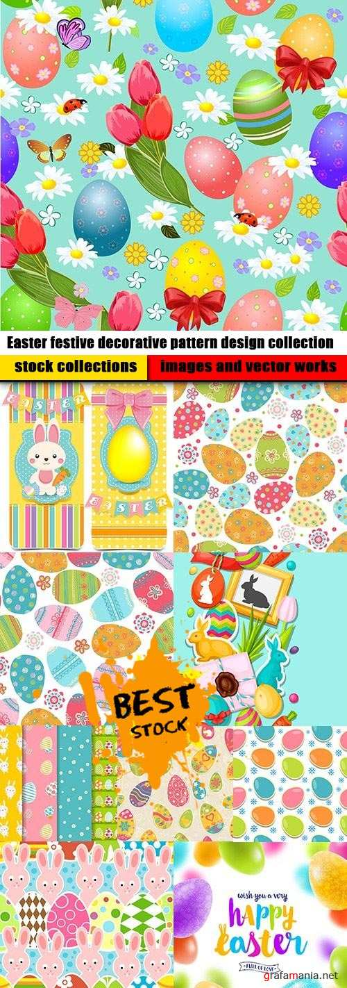 Easter festive decorative pattern design collection