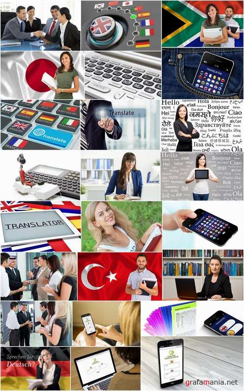 Translator diplomat IT technology to translate the language of the text 25 HQ Jpeg