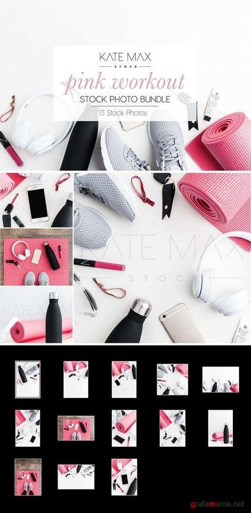 Pink Workout Stock Photo Bundle 2185924
