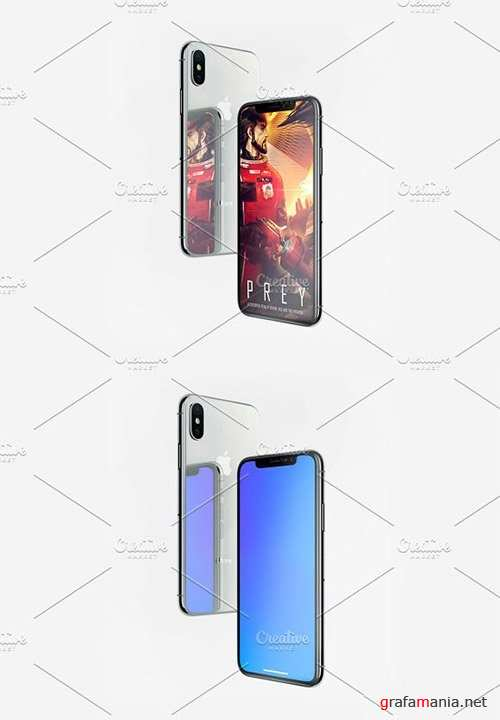 Reflection Apple iPhone X Mockup 2248019