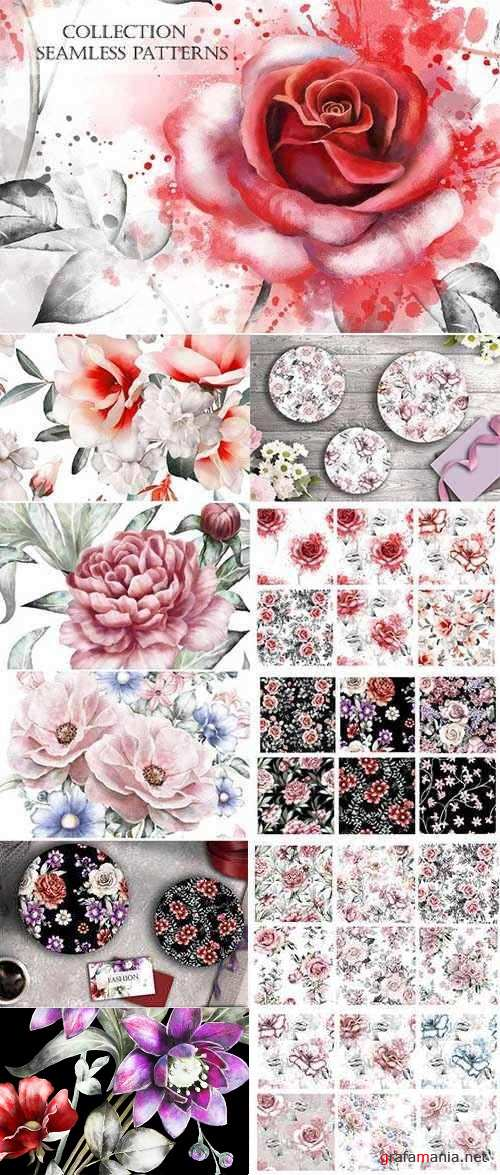 Floral seamless patterns 2204708