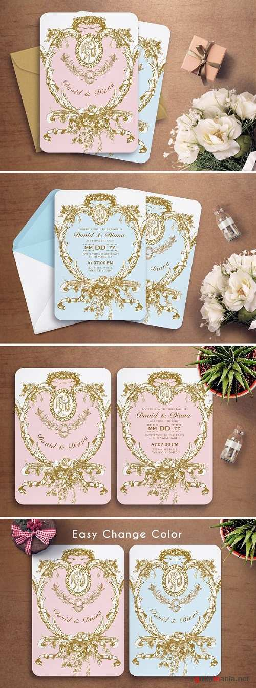MARIE ANTOINETTE WEDDING INVITATION 2237450