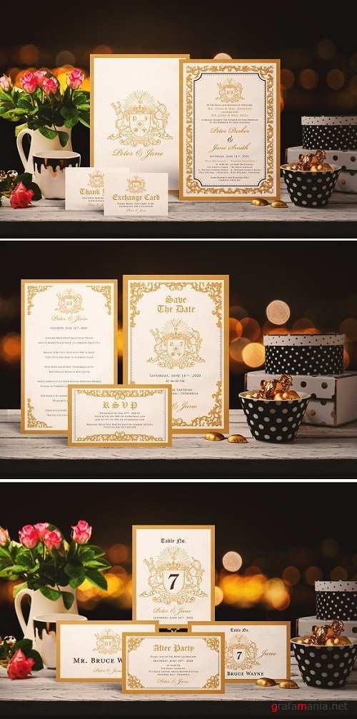 GOLDEN WEDDING INVITATION SUITES 2238602