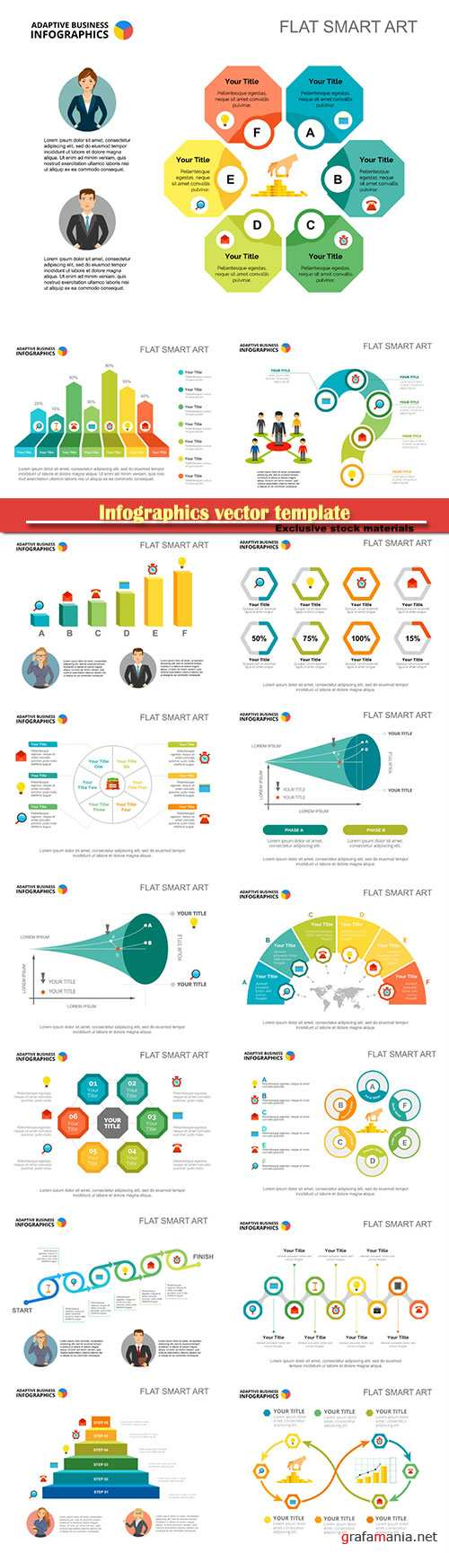 Infographics vector template for business presentations or information banner # 23