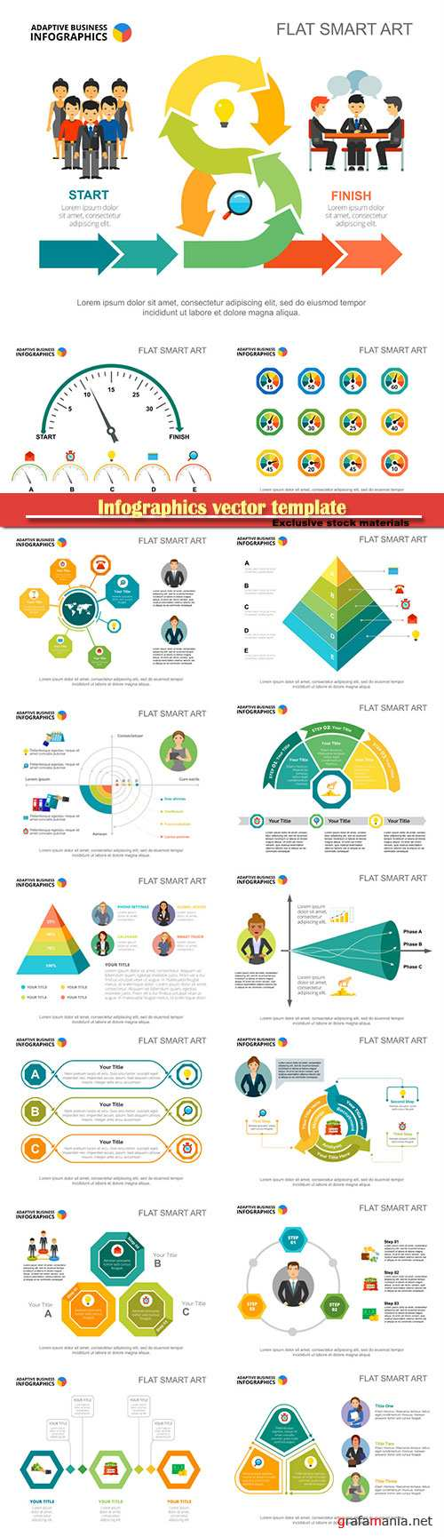 Infographics vector template for business presentations or information banner # 24
