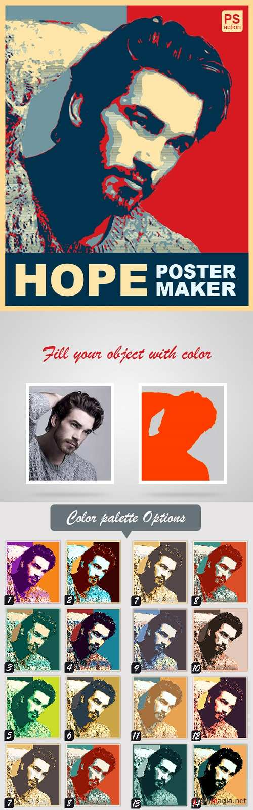 Hope Poster Maker PS Action 21359995