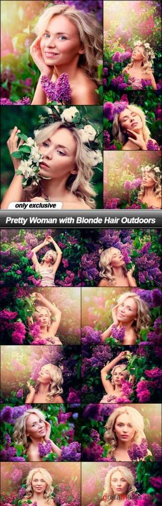 Pretty Woman with Blonde Hair Outdoors - 15 UHQ JPEG