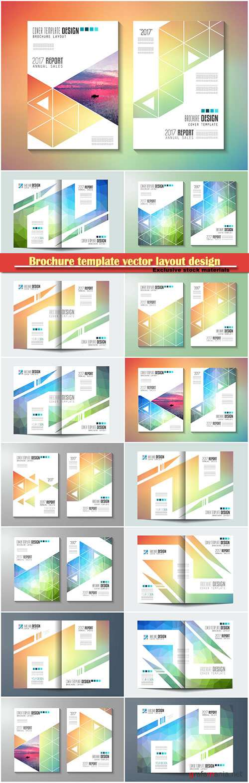 Brochure template vector layout design, corporate business annual report, magazine, flyer mockup # 128