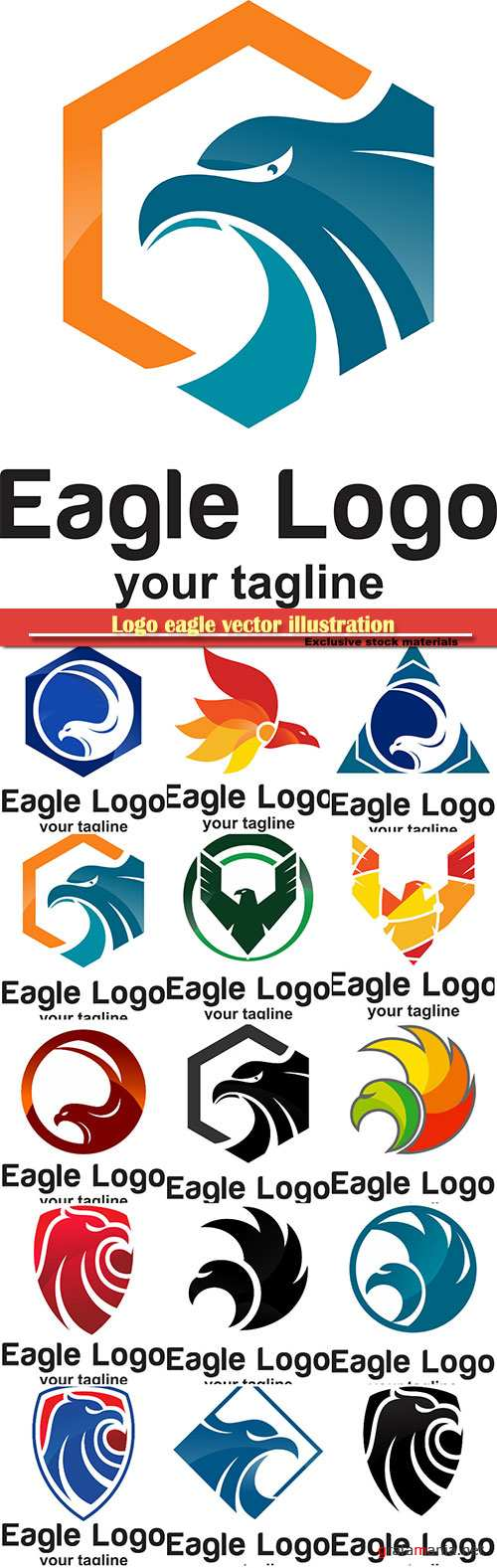 Logo eagle vector illustration