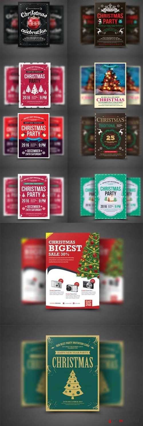10 Christmas Flyers Bundle - 2286393