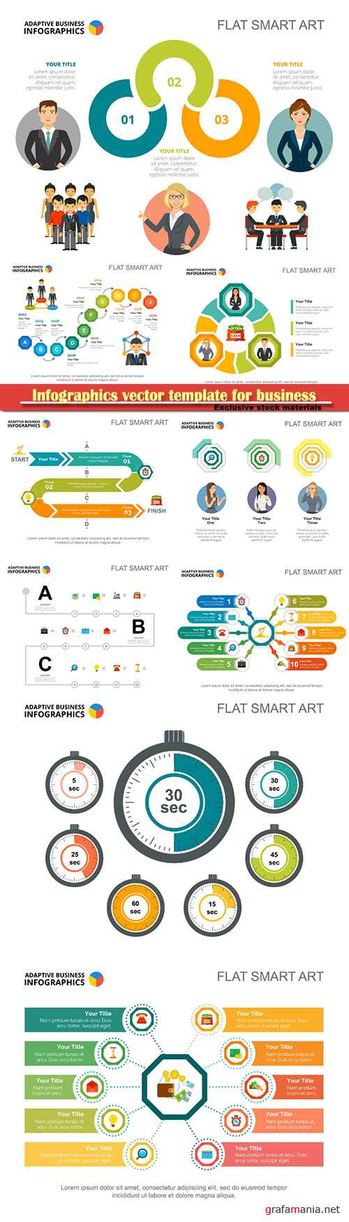 Infographics vector template for business presentations or information banner # 32