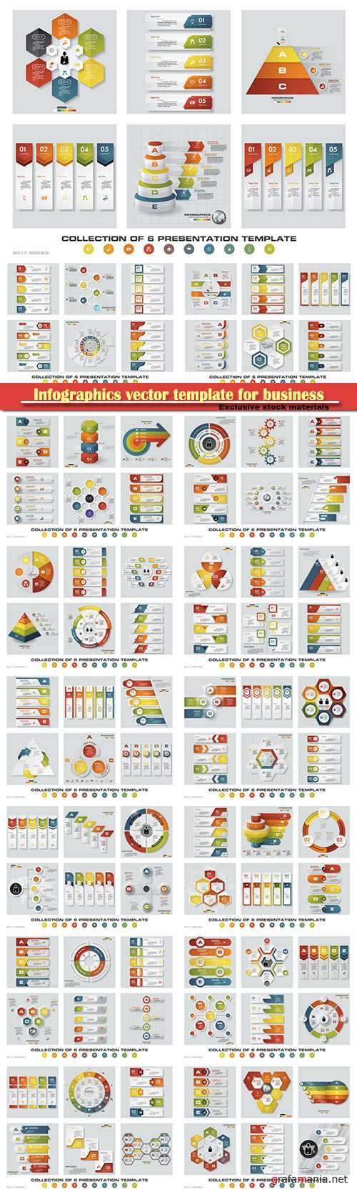 Infographics vector template for business presentations or information banner # 29