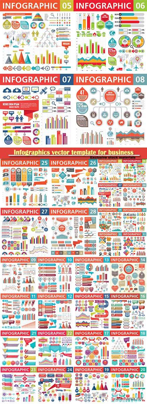 Infographics vector template for business presentations or information banner # 30