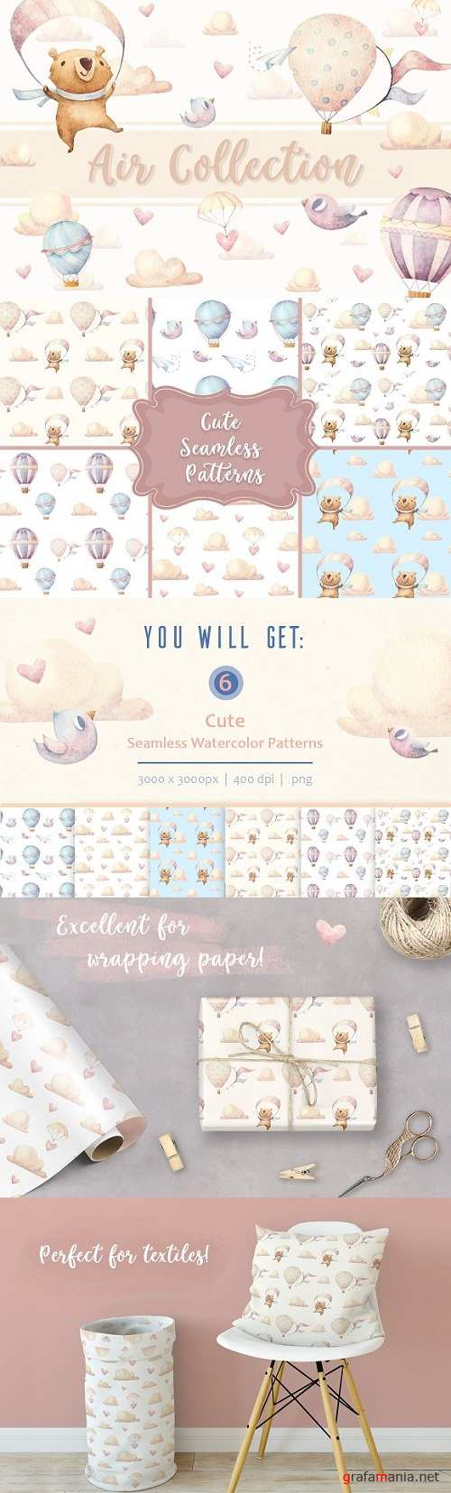 6 Seamless Patterns • Air Collection 2227772