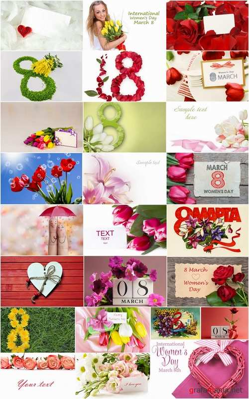 8 March and decorative flowers and cards mother day 25 HQ Jpeg