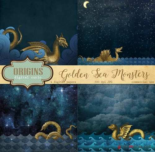 Gold Sea Monster Backgrounds - 592536
