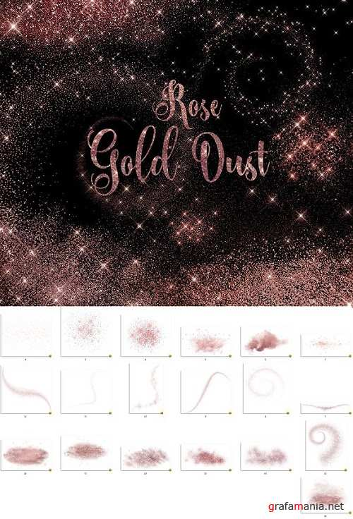 Rose Gold Dust Overlays - 2122413