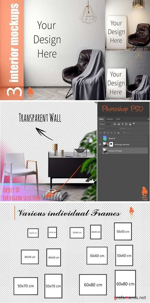 Mockup Poster with various frames 2228757