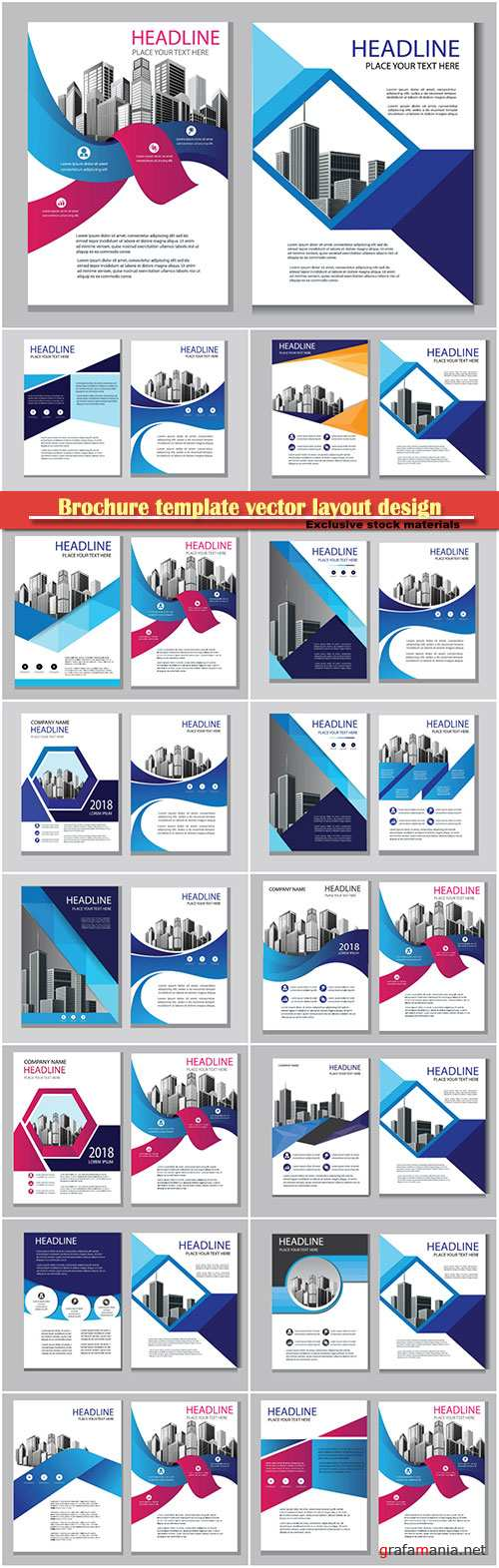 Brochure template vector layout design, corporate business annual report, magazine, flyer mockup # 129