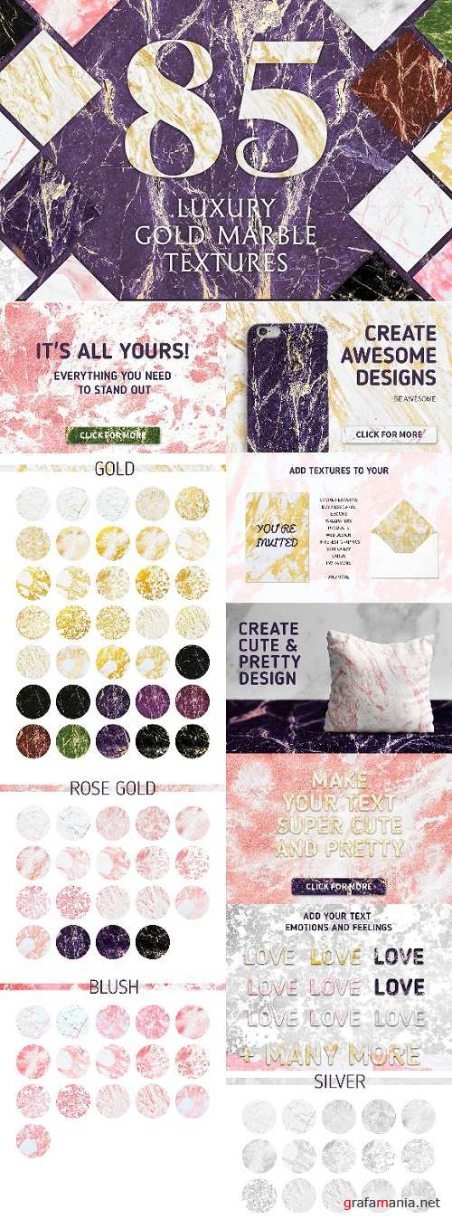 85 Luxury Gold Marble Textures - 1540878