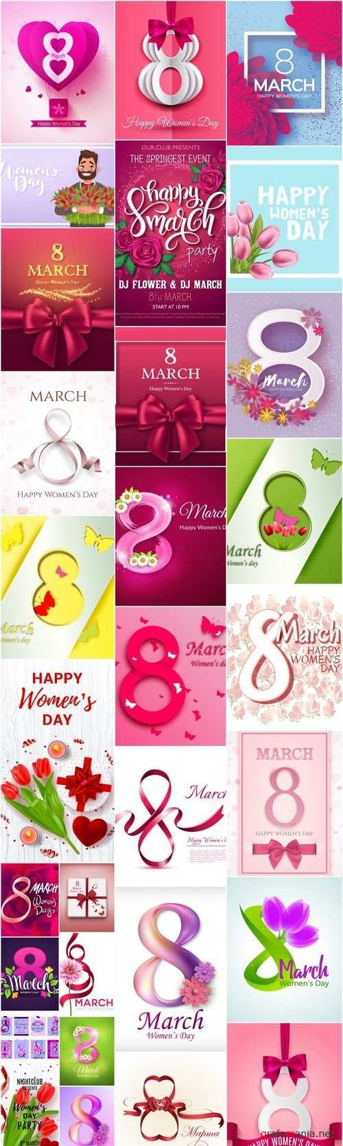 8 March Womans Day - 30 Vector