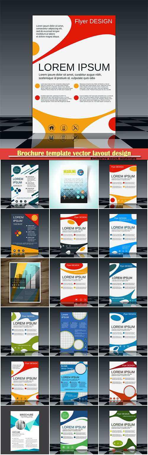 Brochure template vector layout design, corporate business annual report, magazine, flyer mockup # 140