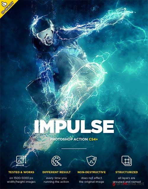 GraphicRiver Impulse CS4+ Photoshop Action