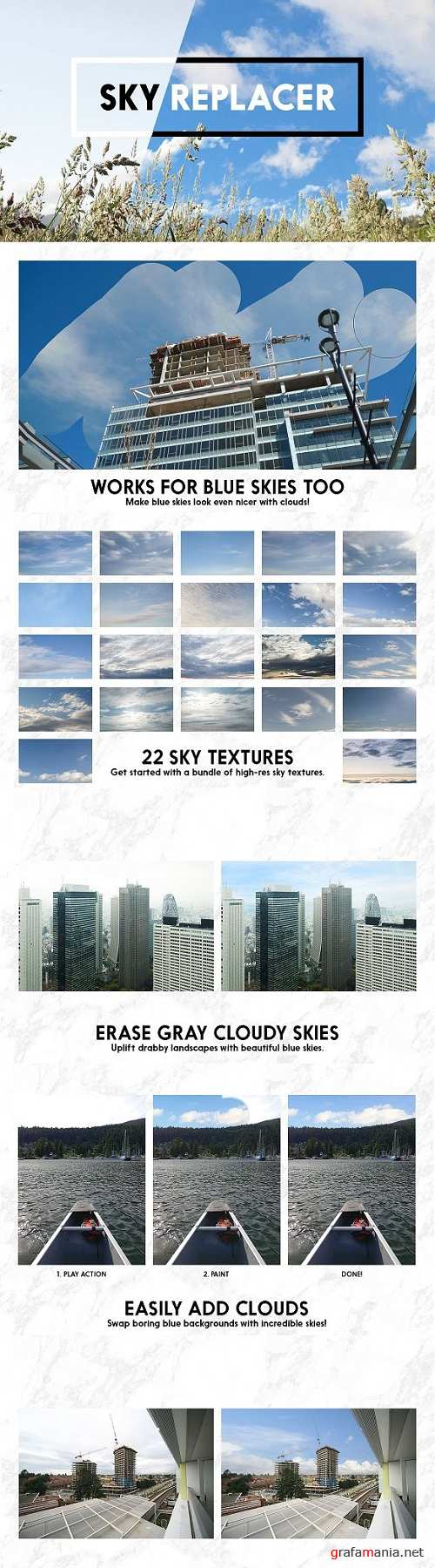 Sky Replacer Photoshop Actions 1961122