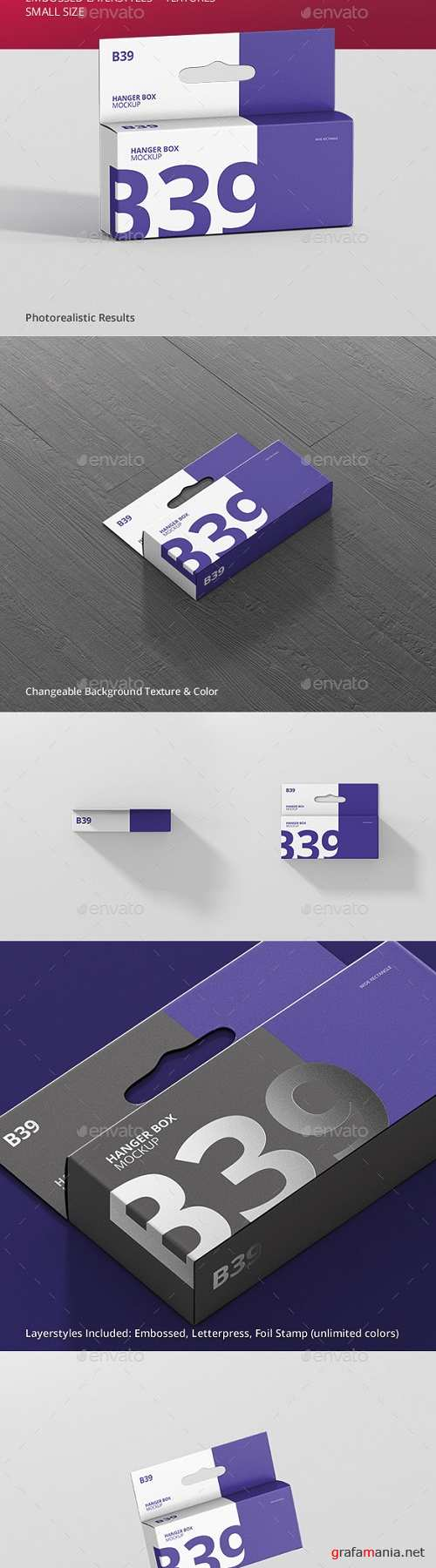 Box Mockup - Wide Small Rectangle with Hanger 21332930