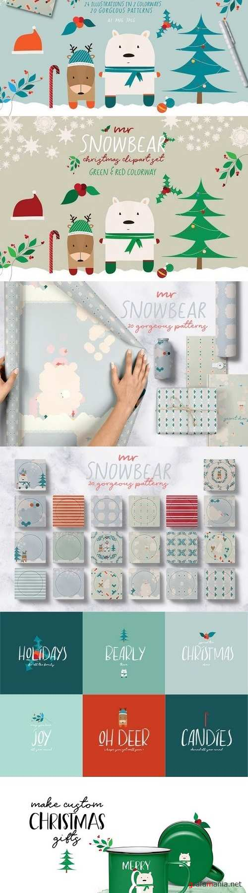 Mr Snowbear Clipart Set 2160731