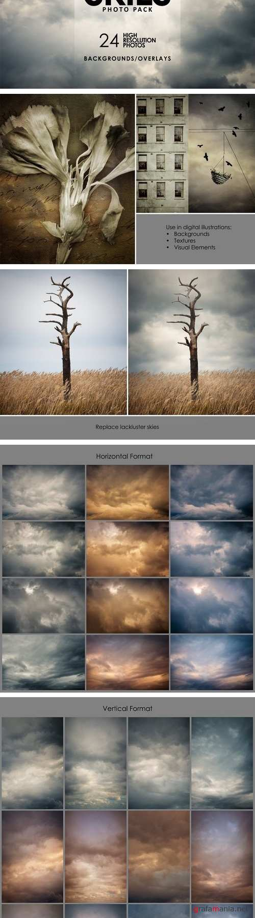 Cloudy Skies-Backgrounds & Overlays - 2083980