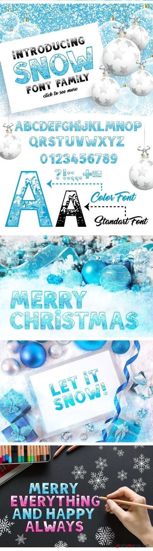 SNOW - Font Family 2090595