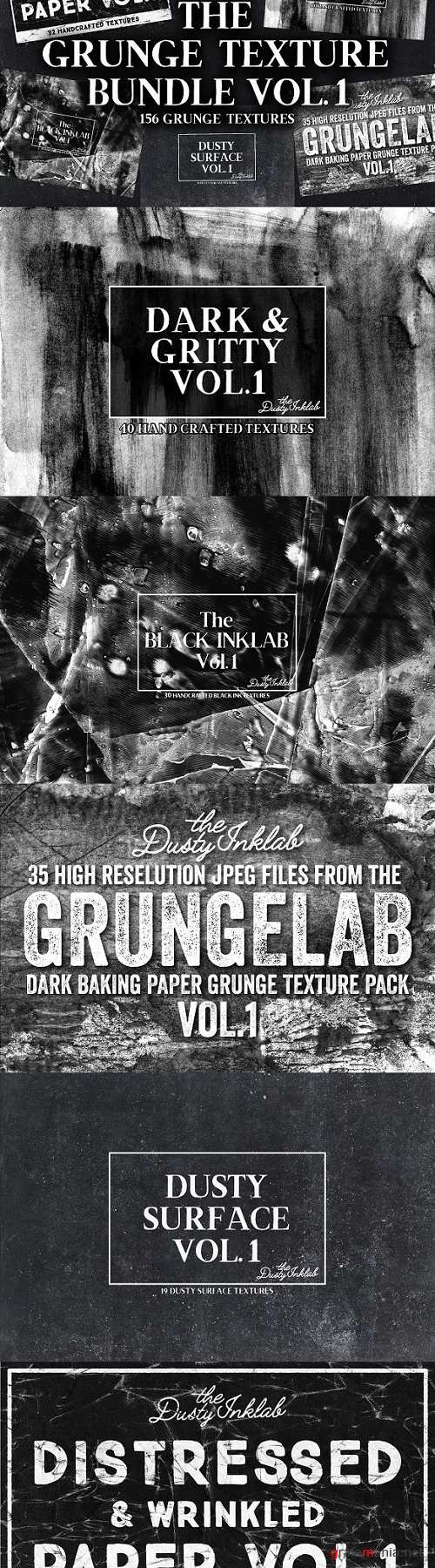 The Grunge Texture Bundle Vol. 1 - 2227292